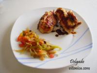 Rollitos de pavo con verduras. Receta saludable