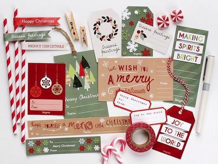Etiquetas divertidas para los regalos de Navidad, imprimibles gratuitos