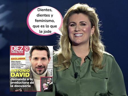 Carlota Corredera responde desafiante (en nombre de 'La Fábrica de la Tele') a la demanda de Antonio David Flores por la emisión de la docuserie
