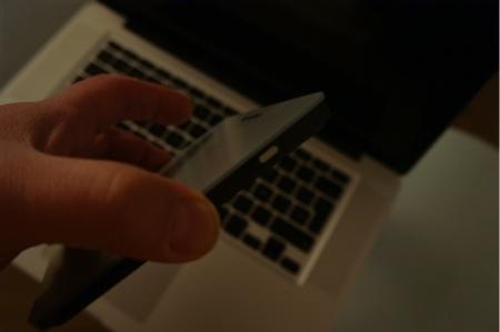 Botón de encendido y detalle del cristal que lo cubre