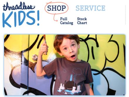 Tienda de camisetas para niños de Threadless