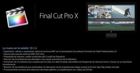 Final Cut Pro X actualiza a la versión 10.1.4