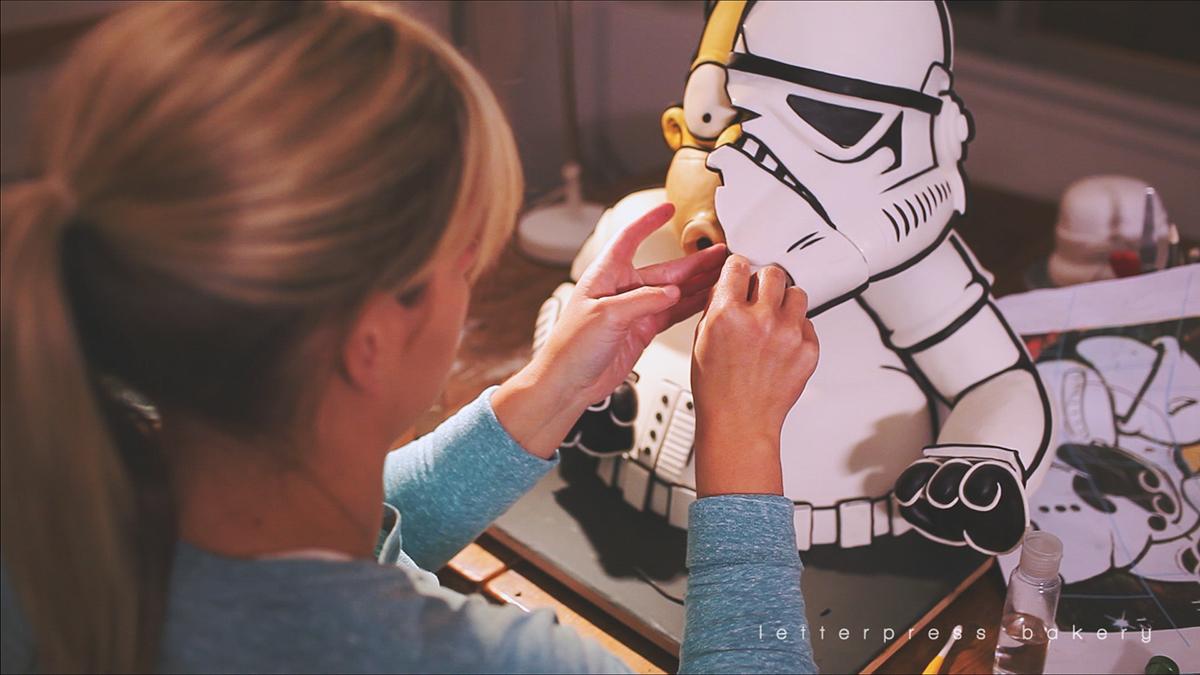 Homer Simpson Strormtrooper Cake