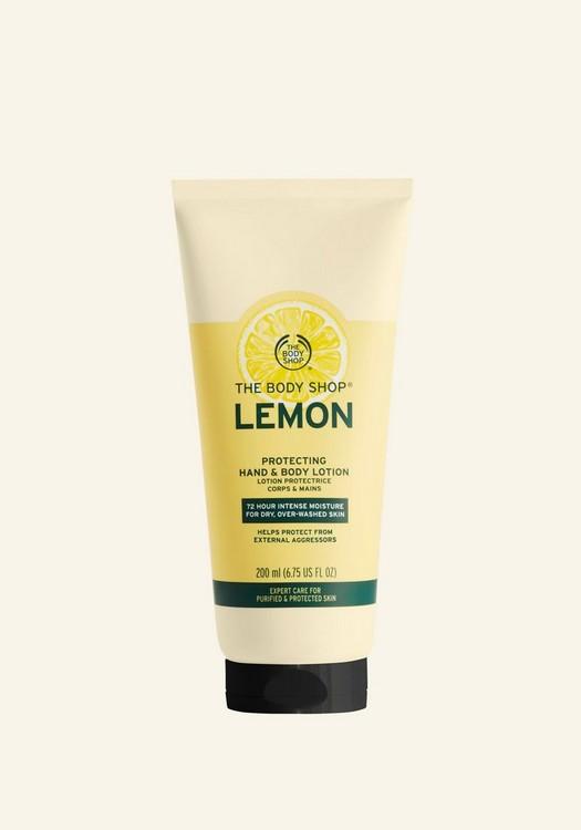 Loción Protectora de Limón para Manos y Cuerpo