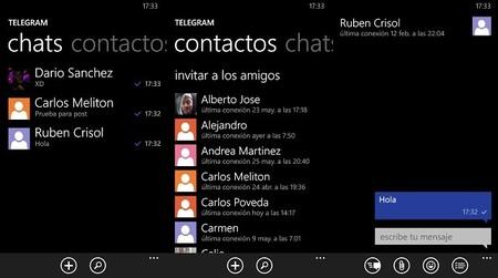 Telegram para Windows Phone