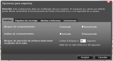 Opciones Panda Cloud