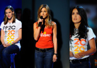 Jennifer Aniston, Eva Longoria, Halley Berry, en la Gala contra el cáncer