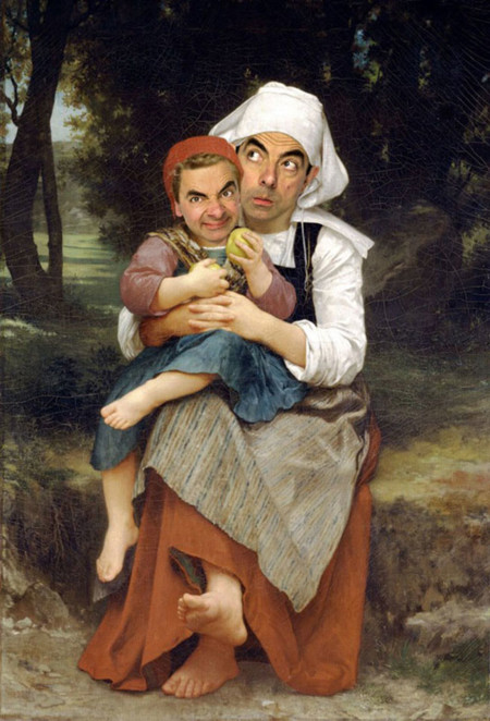 Mr Bean Cuadros Famosos 10