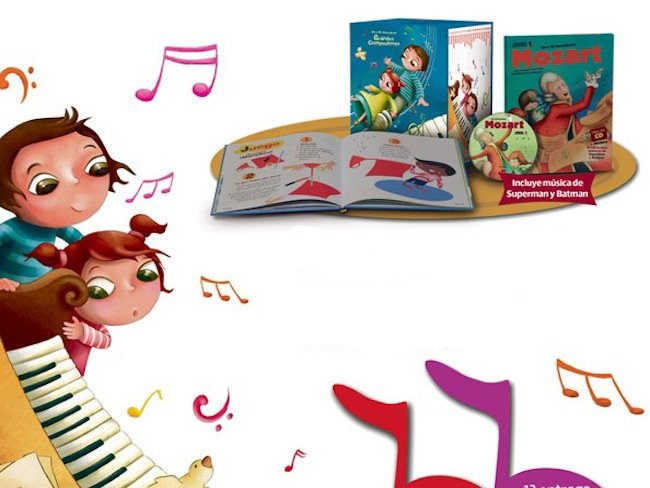 Colecci n infantil de libro cds grandes compositores for Musica clasica para entrenar