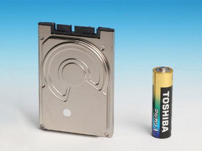 Disco duro de Toshiba de 1.8 pulgadas y 320 GB de capacidad