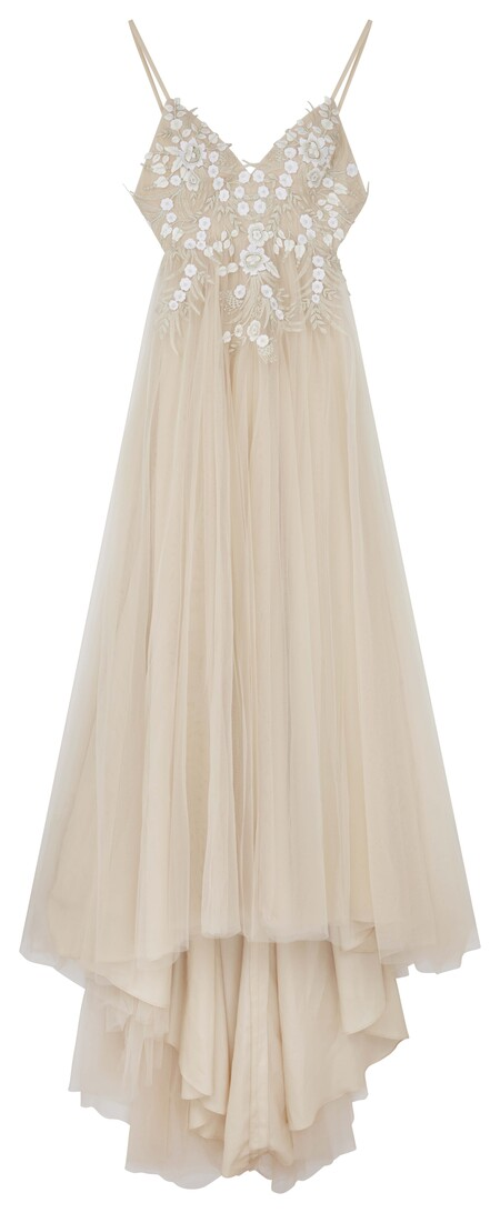 Asos Edition Francesca Plunge Wedding Dress With Tonal Embroidery Gbp325 End Feb