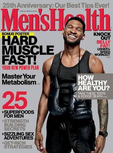 ¡Marchando una de buen chocholate puro con Usher en la portada de Men's Health!