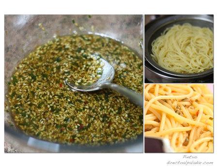 Espaguetis picantes