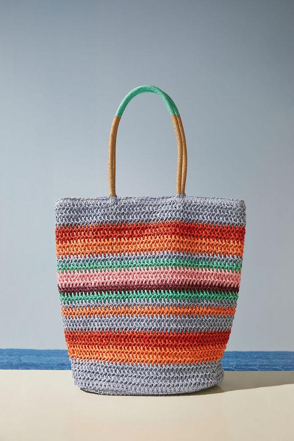 Bolso multicolor rayas asa larga