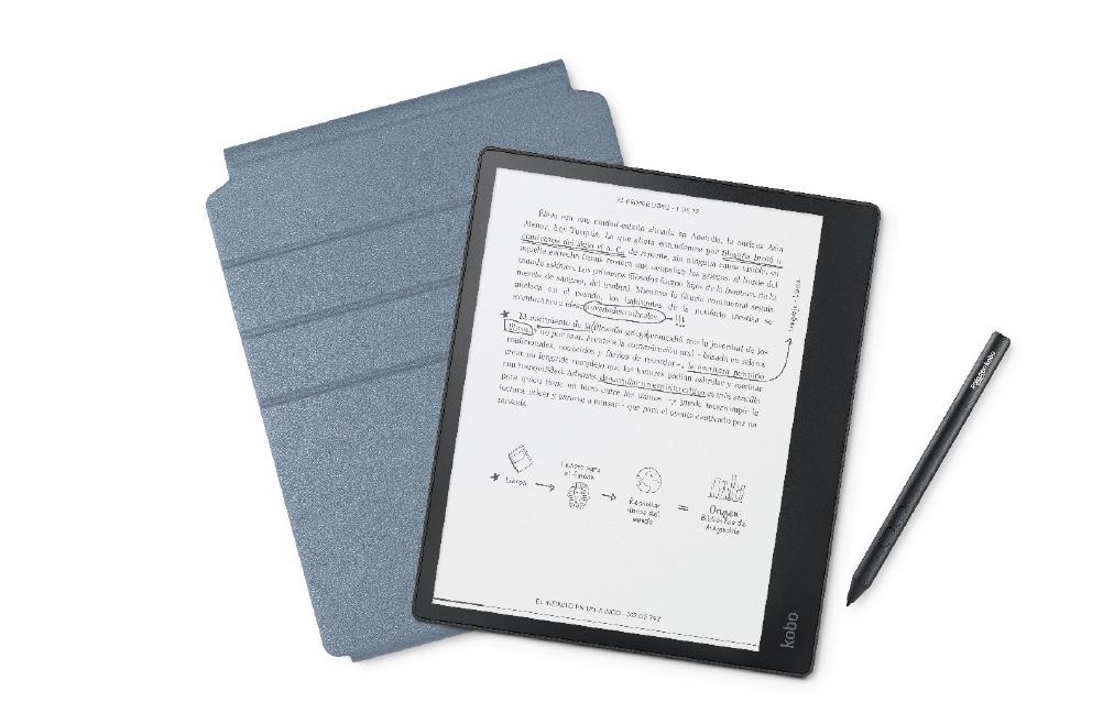 Electronic Book E-Reader Kobo Elipsa 10.3 '' Black + Stylus + Cover Pack