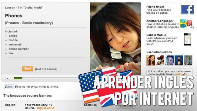 Babbel Aprender inglés online