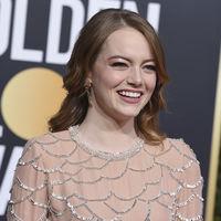 El vestido de Emma Stone de los Globos de Oro 2019 puede crear efecto óptico...