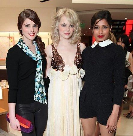 Glamour y Louis Vuitton reúnen a tres actrices de moda