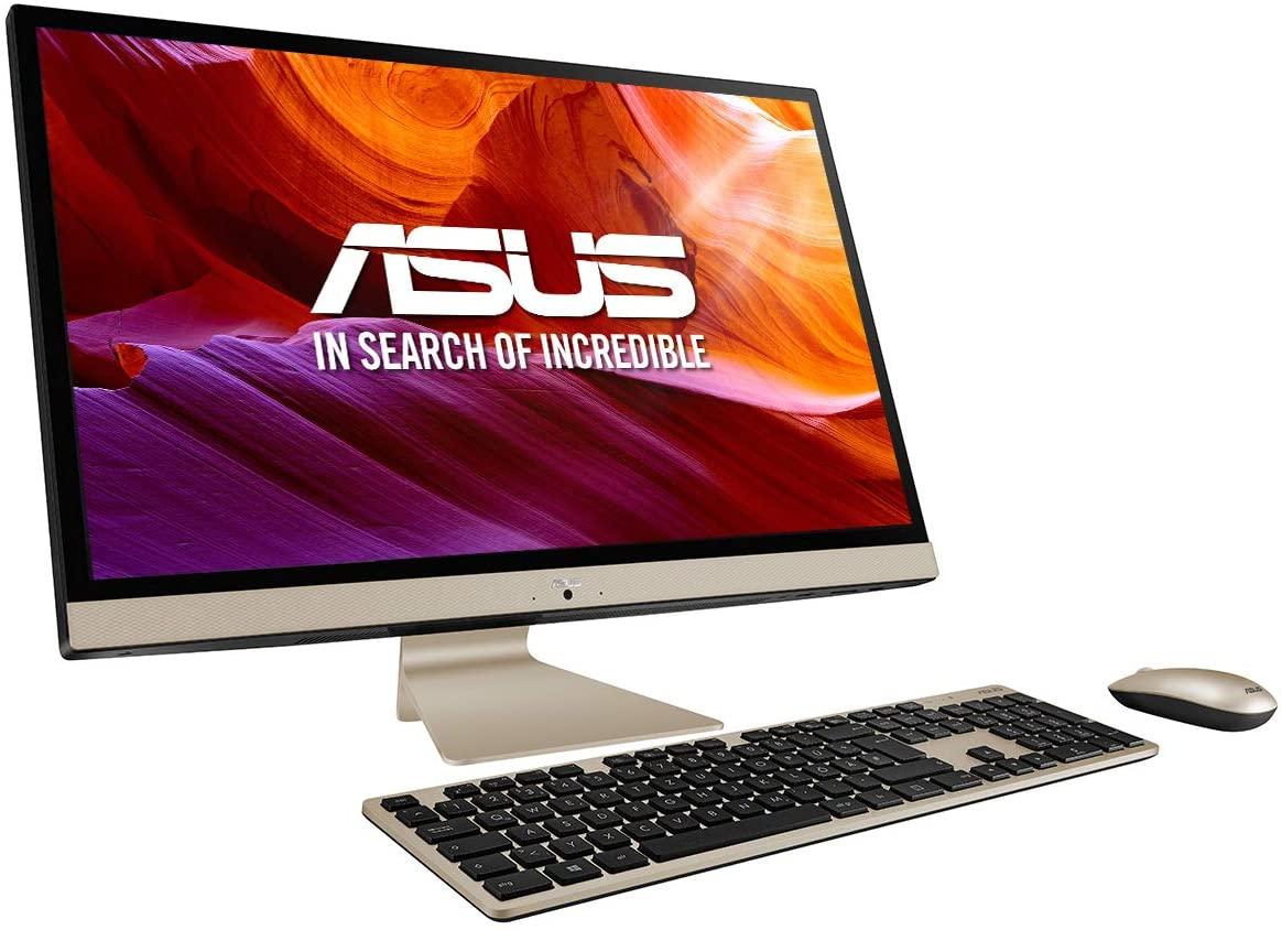 "ASUS Vivo AiO V272UAK-BA053D - Sobremesa todo en uno de 27"" FullHD (Intel Core i5-8550U, 16 GB RAM, 512 GB SSD, 1 TB HDD, Intel UHD Graphics 620, Endless OS) Negro y Dorado - Teclado QWERTY español"