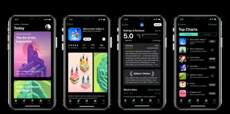 Concepto Ios Oscuro App Store