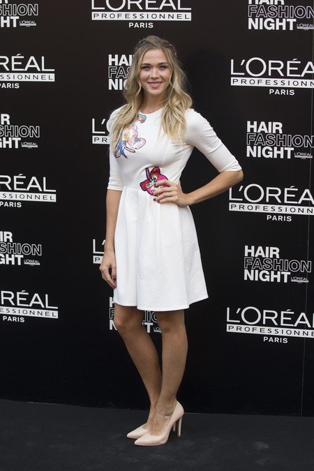 hair fashion night loreal paris madrid celebrities famosas Patricia Montero