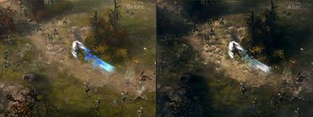Diablo III - Bárbaro luchando con esqueletos