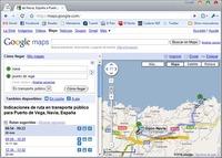 El transporte público de Asturias, en Google Transit