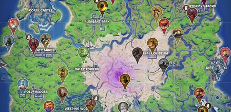 Fortnite: Mapa con todos los NPC y contratos de Temporada 5
