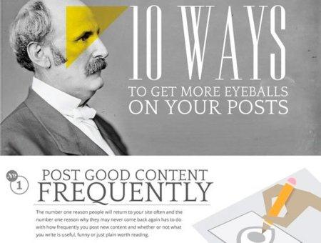 Diez consejos para conseguir atraer a más usuarios a tu blog, la infografía de la semana