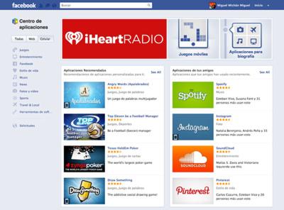 Facebook lanza su Centro de aplicaciones compatible con iOS