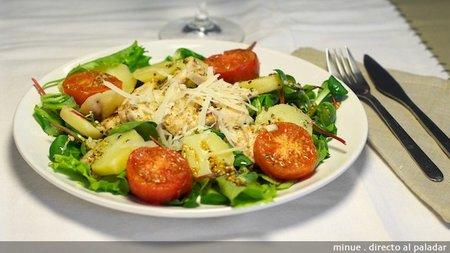 Receta de ensalada italiana de pollo asado