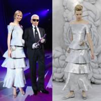 Claudia Schiffer de Chanel en la fiesta de Elle