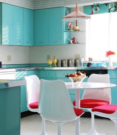 Cocinas llenas de color atr vete con alguna de estas nueve propuestas crom ticas Cocina turquesa