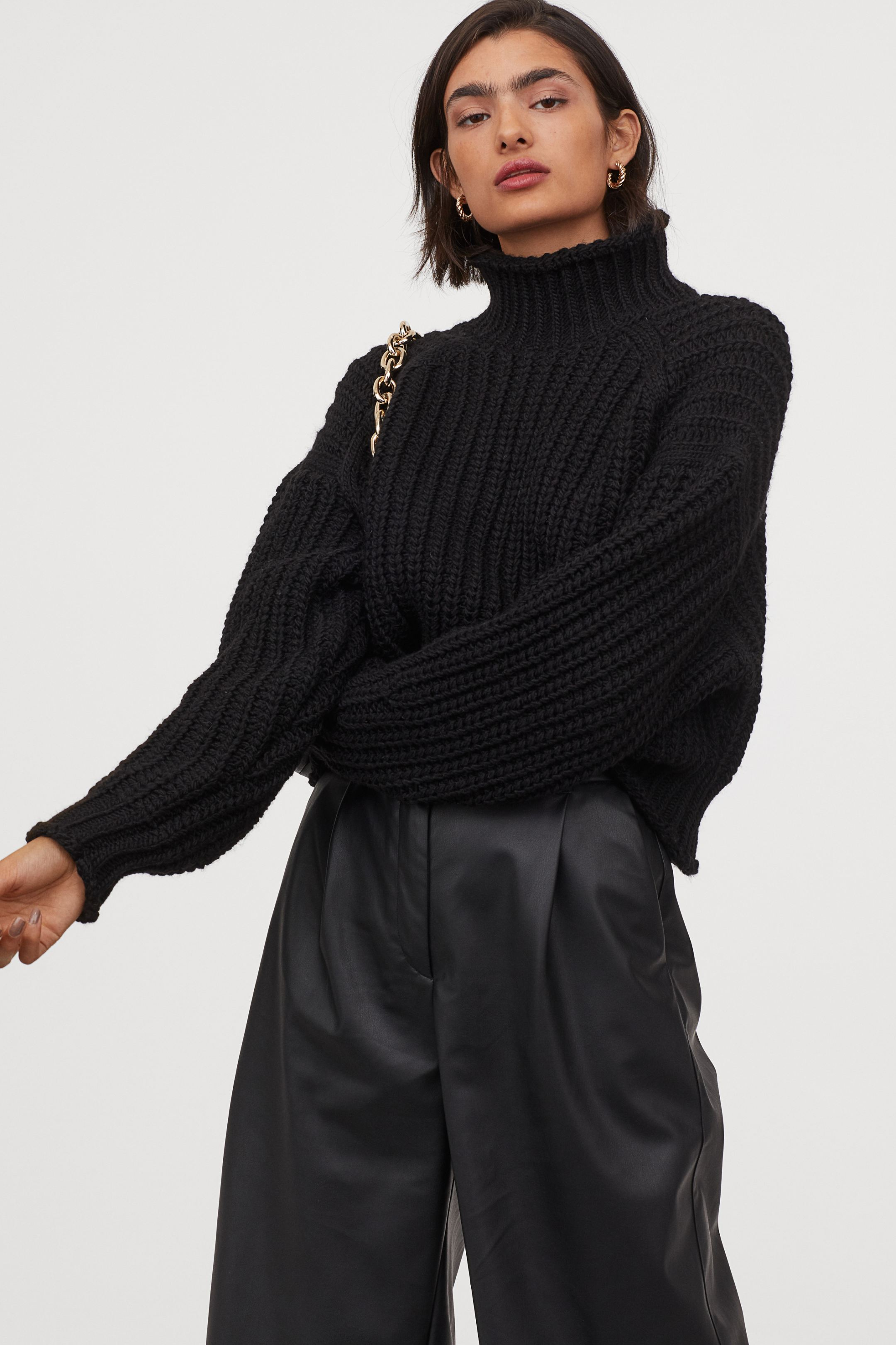 Jersey oversize de cuello alto