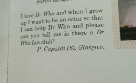 Las cartas fan de 'Doctor Who' de Peter Capaldi, la imagen de la semana