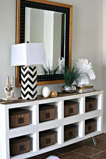 21 peque os recibidores que te ayudar n a inspirarte para - Patas muebles ikea ...