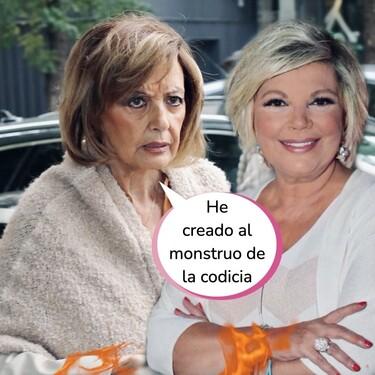 Terelu Campos es una pesetera: su cabreo con María Teresa por la negociación de la entrevista de Gustavo