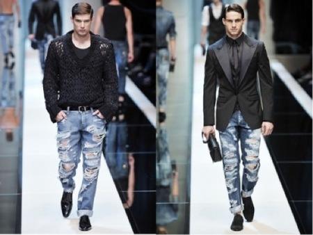 Tendencias futuras: Pantalones destrozados, por Dolce & Gabbana II