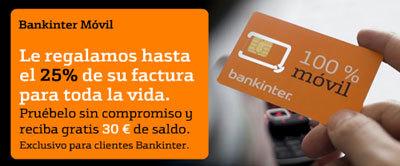 Bankinter Móvil regala 30 euros de consumo a nuevas altas