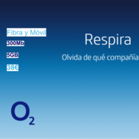 O2 estrena tarifa de fibra a 300 Mbps y móvil con 5 GB por 38 euros
