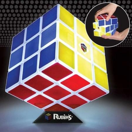 Lámpara con forma de cubo de Rubik