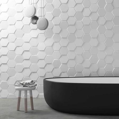 Alerta tendencia; los azulejos con nuevas texturas y relieves se incorporan al cuarto de cuarto de baño (y a donde haga falta)
