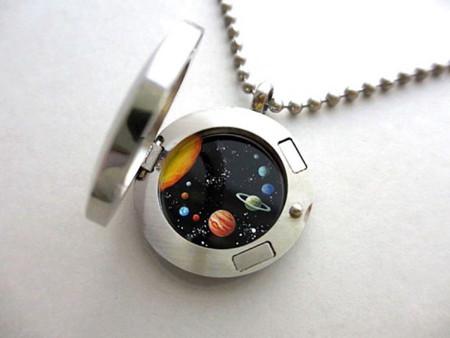 Miniature Astromony Oil Painting Jewelry Rustic Lockets Khara Ledonne 22