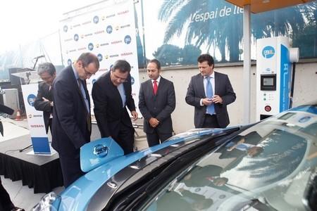 Recarga de Nissan LEAF en Barcelona