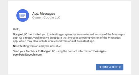 Mensajes de Android estrena versión beta: apúntate para ser el primero en probar las novedades