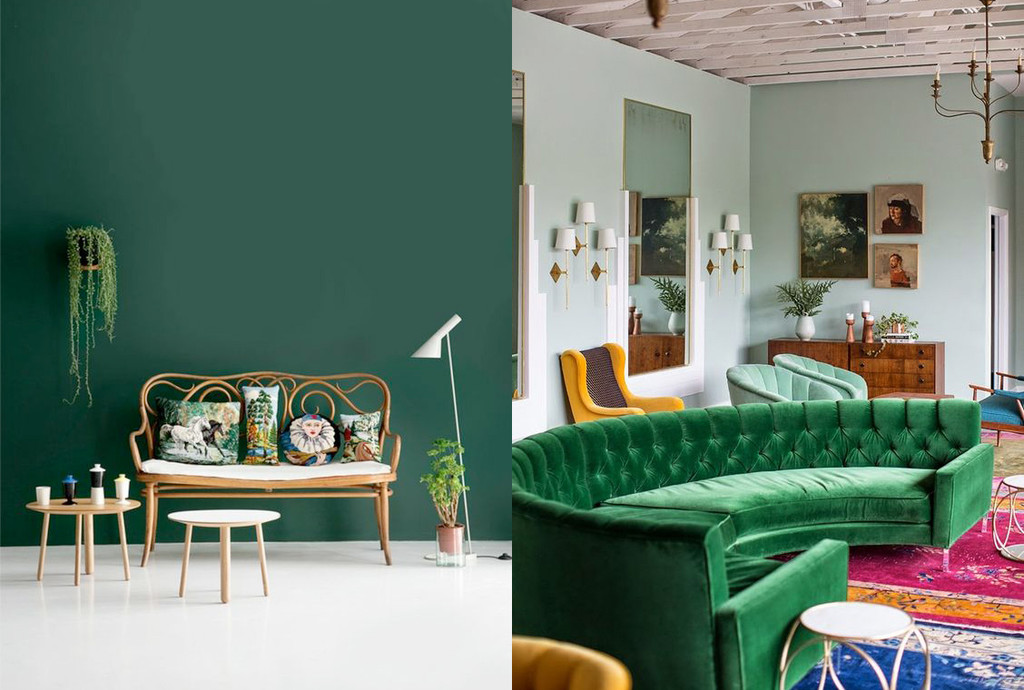 17 ideas sencillas para usar el verde como color dominante en la decoración interior de la casa