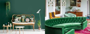 17 ideas sencillas para usar el verde como color dominante en la decoración interior de la casa