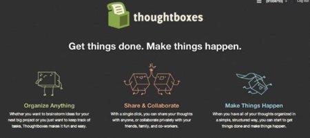 Thoughtboxes, productividad personal y en grupo ideal para preparar proyectos
