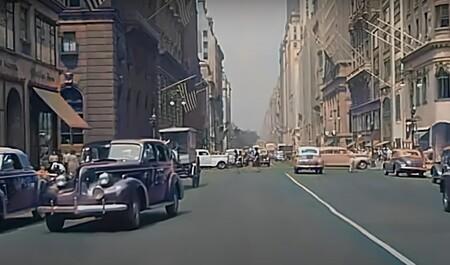 Estos vídeos restaurados ofrecen un increíble viaje al pasado: así era conducir por EEUU en la época dorada del automovilismo