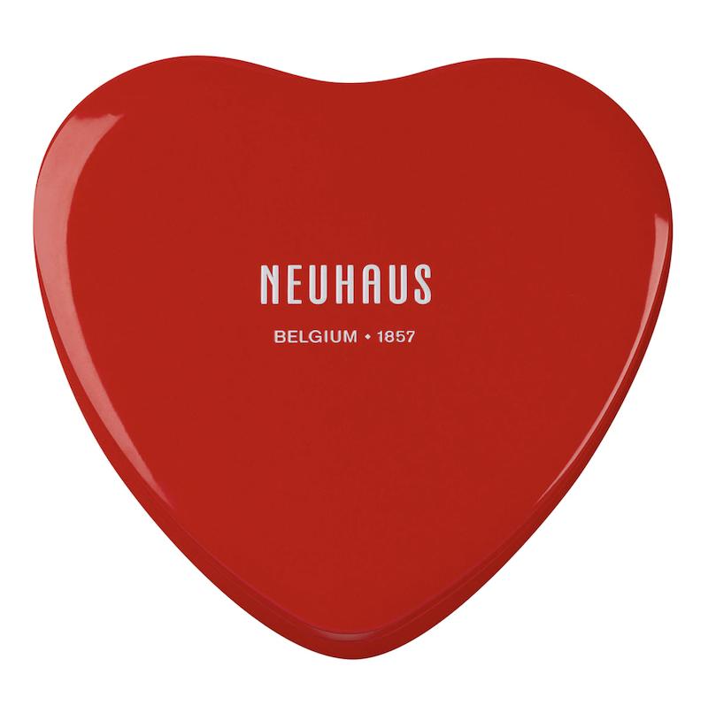 Bombones belgas surtidos lata corazón Neuhaus